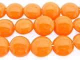 Orange Tabular Resin Beads 14mm (RES553)
