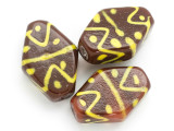 Brown Tabular Glass Bead 38-39mm (CB470)