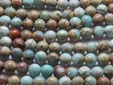 Aqua Terra Jasper Round Gemstone Beads 8mm (GS3340)