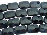 Onyx Faceted Tabular Gemstone Beads 17mm (GS3400)