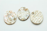 Natural Mother of Pearl Oval Shell Pendant 58-60mm (AP1463)