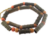 Metal Tube Beads 36-38mm - Nigeria (RF682)