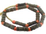 Metal Tube Beads 33-40mm - Nigeria (RF684)