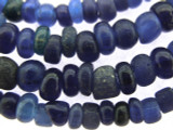 Old Jatim Majapahit Irregular Blue Glass Beads 1-5mm (RF654)