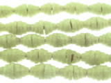 Pale Chartreuse Pyramid Sandcast Glass Beads 7mm (SC868)