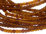 Transparent Amber Glass Trade Beads 3-4mm (AT875)