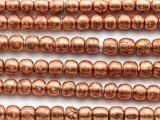 Copper Irregular Round Metal Beads - Ethiopia 6-7mm (ME356)