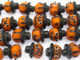 Pumpkin Lampwork Glass Beads 14mm (LW1520)