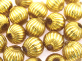 Ecuadorian Gold-Plated Glass Round Beads 11mm (EG14)