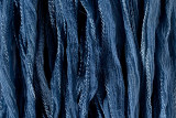 "Denim Blue Hand Stitched Silk Fairy Ribbon 42"" (SK1022)"