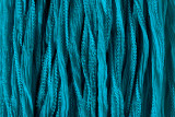 "Dark Turquoise Hand Stitched Silk Fairy Ribbon 42"" (SK1005)"