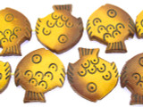 Fish Leather Beads 30mm (LB502)