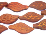 Red Leaf Leather Beads 44mm (LB508)