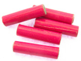 Pink Tube Recycled Paper Beads 25mm (PA80)