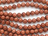 Brown Goldstone Round Gemstone Beads 8mm (GS3513)