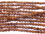 Brown Goldstone Faceted Round Gemstone Beads 2-3mm (GS3514)
