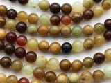 Flower Jade Round Gemstone Beads 10mm (GS3517)