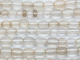 Irregular Rice Clear Glass Beads 4-9mm (AT7014)