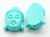 Blue Buddha Resin Bead 25mm (RES599)