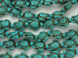 Turquoise Howlite Turtle Gemstone Beads 18mm (GS3636)