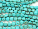 Turquoise Magnesite Heart Gemstone Beads 9mm (GS3614)