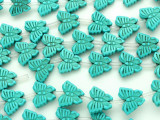 Turquoise Howlite Butterfly Gemstone Beads 14mm (GS3629)