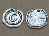 C - Pewter Wax Seal Stamp Charm 18mm (PW760)
