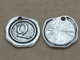 Q - Pewter Wax Seal Stamp Charm 18mm (PW774)