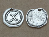 X - Pewter Wax Seal Stamp Charm 18mm (PW781)