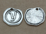 Y - Pewter Wax Seal Stamp Charm 18mm (PW782)
