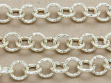 """Gold Plated Aluminum Textured Round Link Chain 10mm - 36""""  (CHAIN25)"""