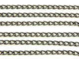 "Gunmetal Plated Aluminum Cable Chain 5mm - 36""  (CHAIN27)"