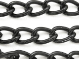 "Black Plated Aluminum Curb Chain 18mm - 36""  (CHAIN30)"