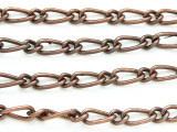 "Antique Copper Plated Iron Mother & Son Chain 11mm - 36""  (CHAIN60)"