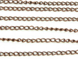 "Antique Copper Plated Iron Curb Chain 4mm - 36""  (CHAIN71)"