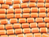 Orange Barrel Bamboo Wood Beads 10mm (WD879)