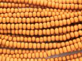 Light Orange Rondelle Wood Beads 4mm (WD888)