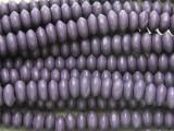 Purple Saucer Wood Beads 7-8mm (WD903)