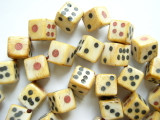 Bone Dice Beads 10mm (B7516)
