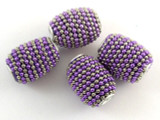 Purple Ceramic & Metal Bead 20mm (CM82)