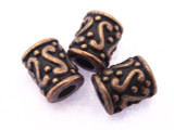 Copper Barrel Bead 8mm (CP56)