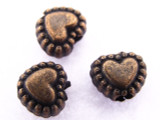 Copper Heart Bead 5mm (CP62)