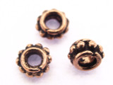 Copper Spacer Bead 6mm (CP90)