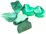 Green Agate Slab Gemstone Beads