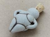 Venus of Willendorf Ceramic Cork Bottle Pendant 42mm (AP1814)