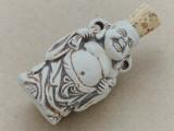 Buddha Ceramic Cork Bottle Pendant 40mm (AP1821)