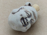 Buddha Head Ceramic Cork Bottle Pendant 34mm (AP1822)