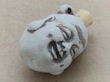 Buddha Head Ceramic Cork Bottle Pendant 34mm (AP1822)