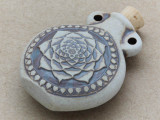 Lotus Flower Ceramic Cork Bottle Pendant 45mm (AP1826)