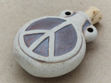 Peace Sign Ceramic Cork Bottle Pendant 45mm (AP1832)